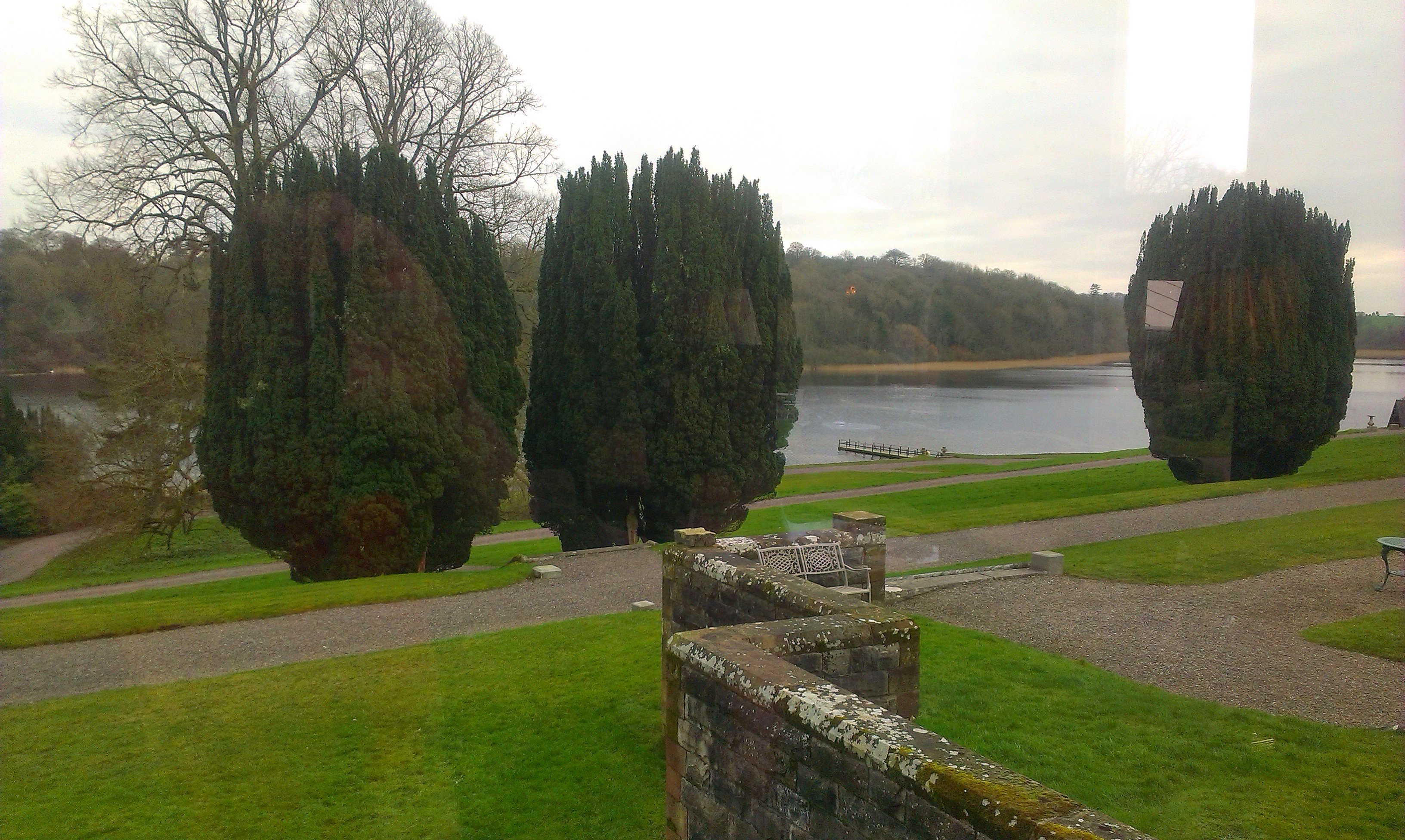 The lake at castle Leslie